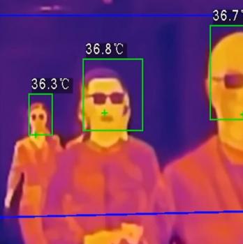 Càmeres fixes i mòbils per a la detecció de febre